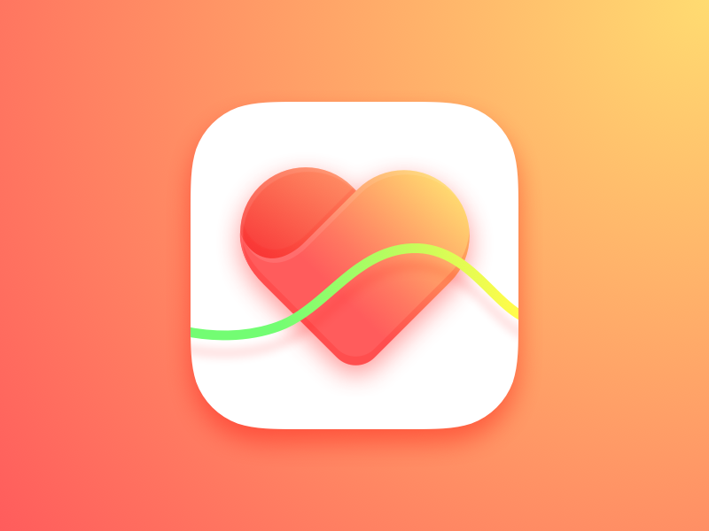 Heart Rate App iCon flat health heartrate ios9 ios dailyui clean minimal app sketch3 icon