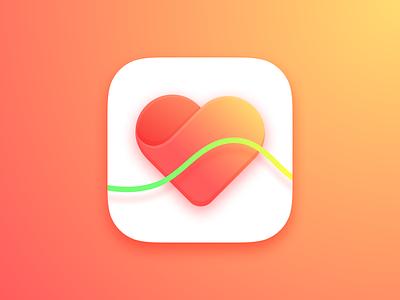 Heart Rate App iCon flat health heartrate ios9 ios dailyui clean minimal app sketch3 icon