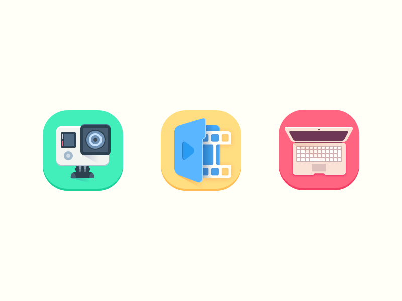 Video making icons by zivile zickute