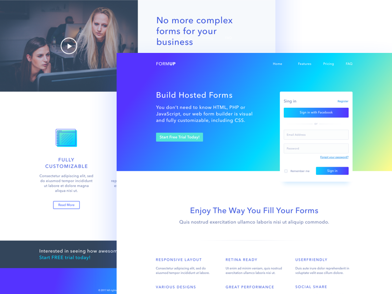 Forms builder webdesign by zivile zickute