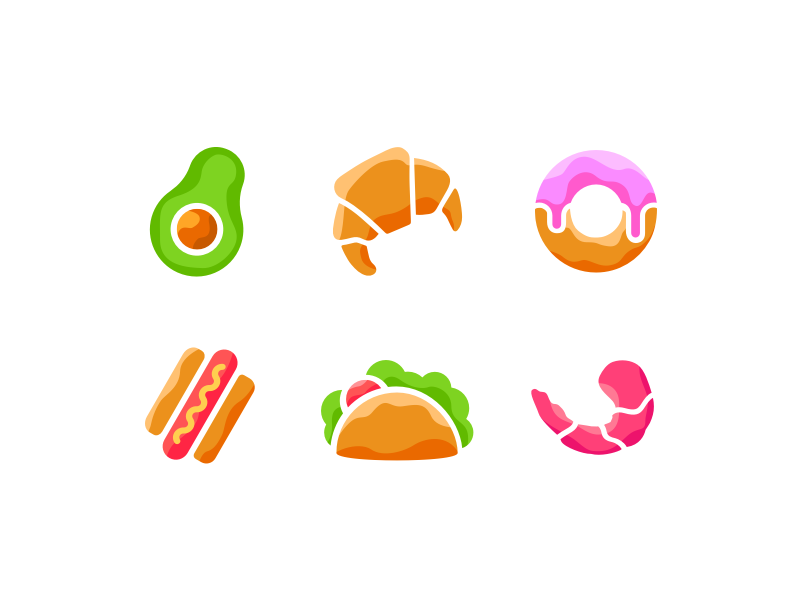 Food icons by zivile zickute