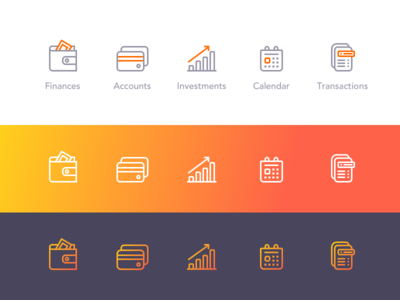 Banking Outline Icons 🤑 finance cash dailyui appdesign ui bank outline icons line money webdesign