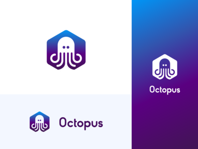 Octopus Identity Project 🐙 dailyui logo gradients letters octopus abstract geometric concept typography branding identity
