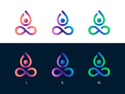 Yoga Center Logo Design 🌸 illustration interface typography spa yoga vector design ui minimal gradients app logo branding identity icon dailyui
