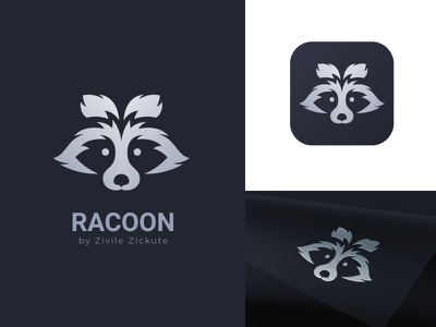 Racoon Logo Design logo design racoon animal animal logo gradients app minimal logo branding identity flat icon