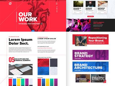 Agency Website styling elements style tile website agency