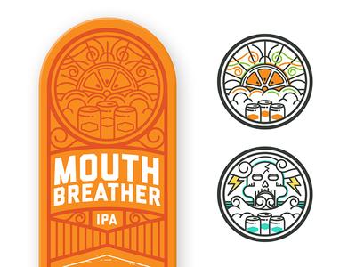 Brewery Illustration monoline beer illustration tap handle brewery