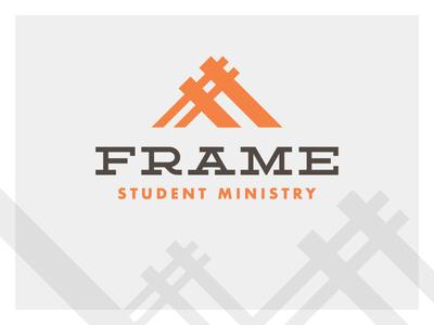 Frame Student Ministry logo exploration work in progress branding student ministry church logo