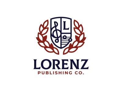Music Publishing Logo vector musician icon logo badge shield crest laurel publishing music