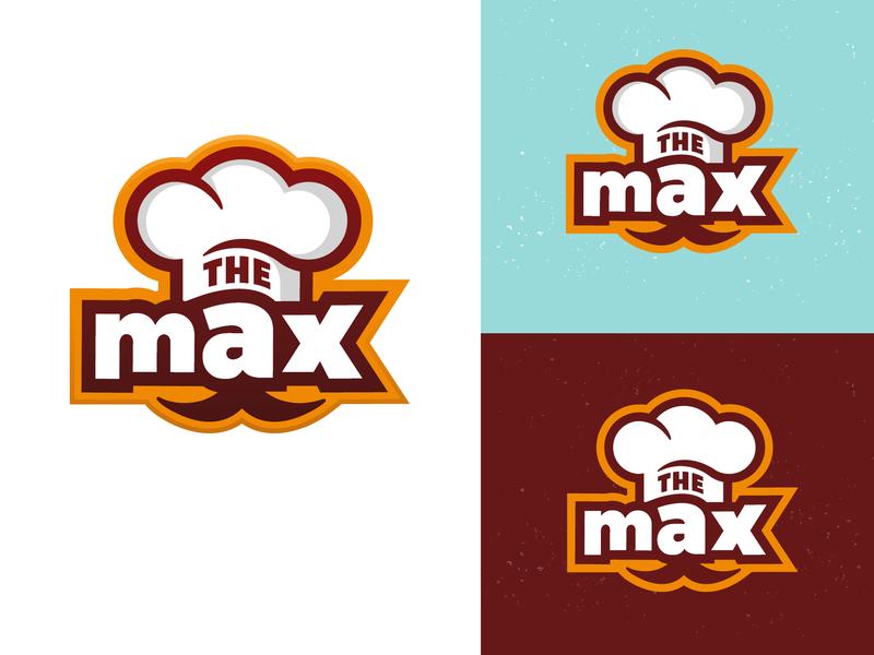The Max Logo branding logo design food chef pizza logo