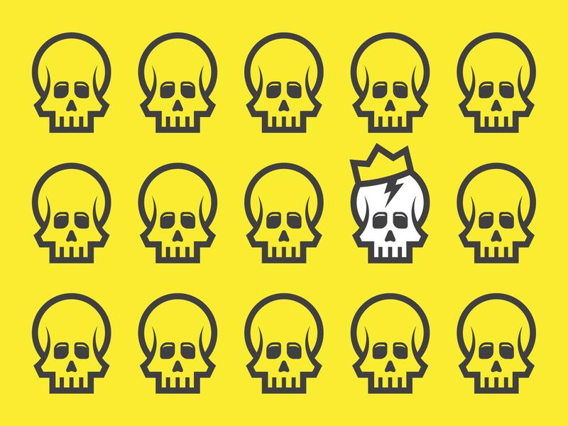 Skull Pattern patterns icons vectorart electric lightning bolt pattern vector crown skull