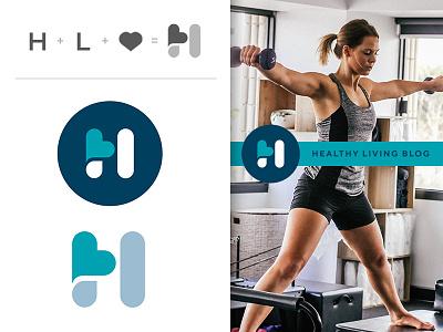 Healthy Living Logo fitness wellness hospital heart simple logo mark logo healthy health
