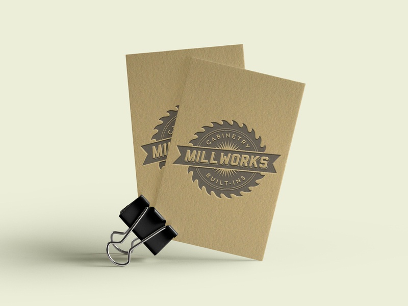 Millworks letterpress millwork business cards visual identity logo graphic design branding