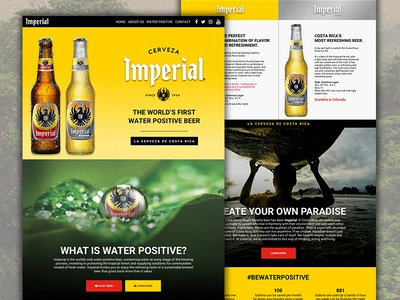 Imperial - Desktop Mockups flat responsive website imperial