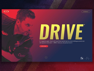 Drive Dribbble Feature web design storm bowling