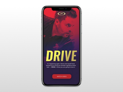 Drive Home Page Mockup for iPhone X storm drive web design iphone x