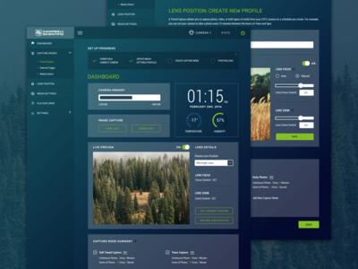 Dashboard & Edit Screen for a Web App