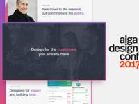 AIGA design conference keynote keynote trust impact talk conference aiga