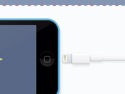 Contact sketch 5c iphone lightning web