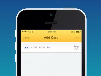 Add Credit Card ios7 iphone credit card card visa keypad payment sketch