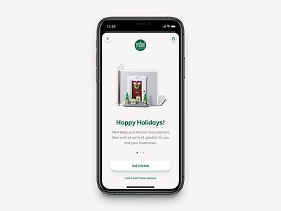 Happy Holidays! 🎄❄️ illustration app diorama wholefoods blender 3d animation 3d christmas ios iphone