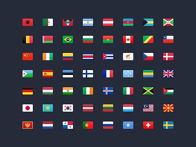 FlagKit – 177 Flag Icons countries icons web ios github flags flag