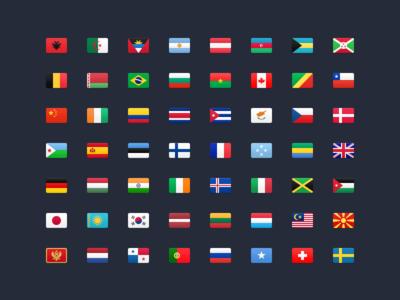 FlagKit – 177 Flag Icons