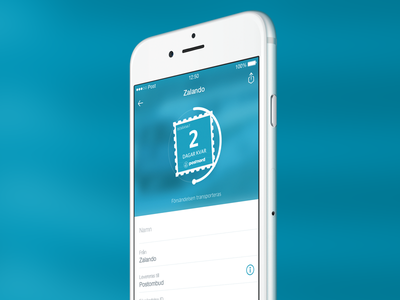 Track and Trace - PostNord stamp track app iphone mail post delivery