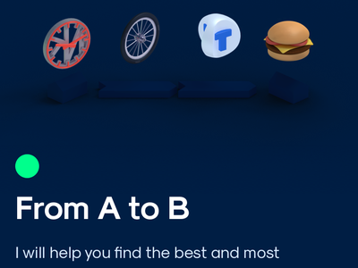 Onboarding Animation – Travis onboarding app iphone burger subway bike travis gif animation 3d traveling ios
