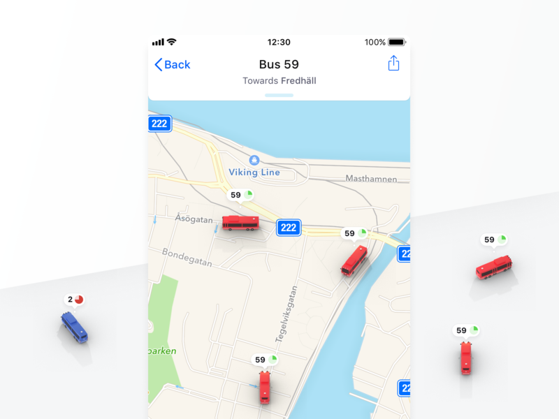 Locate the Bus 🕵️♂️ blender 3d blender isometric map bus stockholm app ios