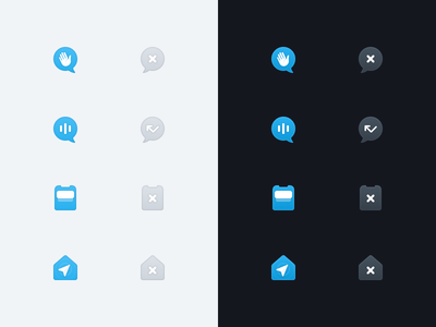 Icons 🌝🌚 audio home notifications chat darkmode ios app icon