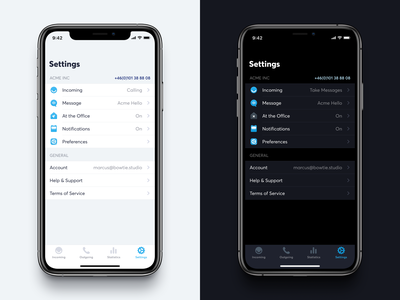 Settings ⚙️ settings tableview app iphone ios icons darkmode