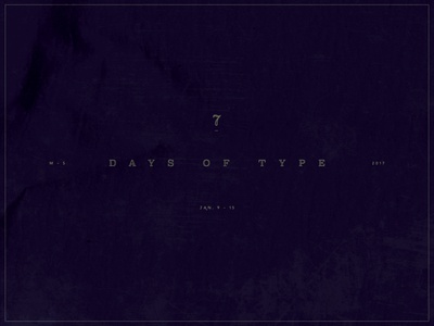 7 Days Of Type
