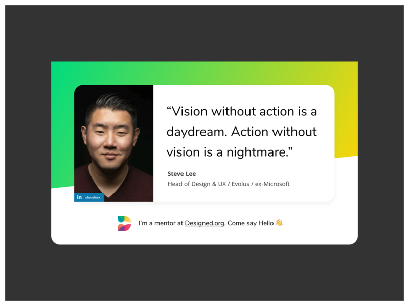 Meet Steve  Lee - A Mentor on Designed.org mentoringmatters mentoring designeducation mentors mentorship mentor