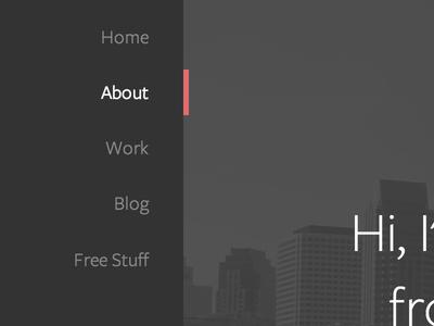 Working on my new portfolio site portfolio design typography