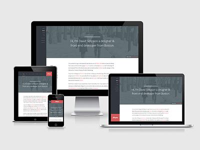 Responsive Updates responsive html css design ui ux brand simpson portfolio website