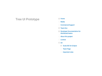 Tree UI Prototype