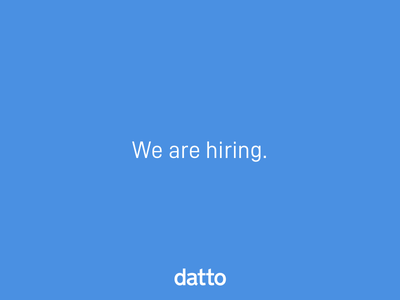 We are hiring Product Designers! opportunity career product designer hire datto