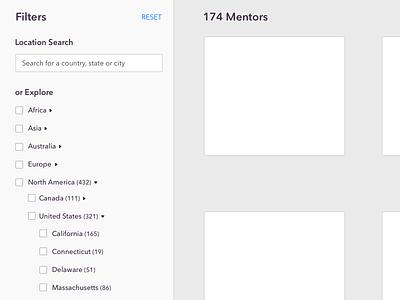 Exploring international location filtering design mentor filters location
