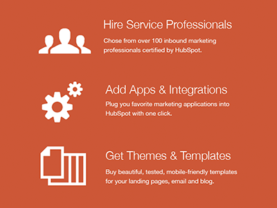 Service Marketplace Icons hubspot responsive design home simple icons