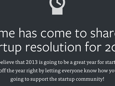 StartupResolution.com header