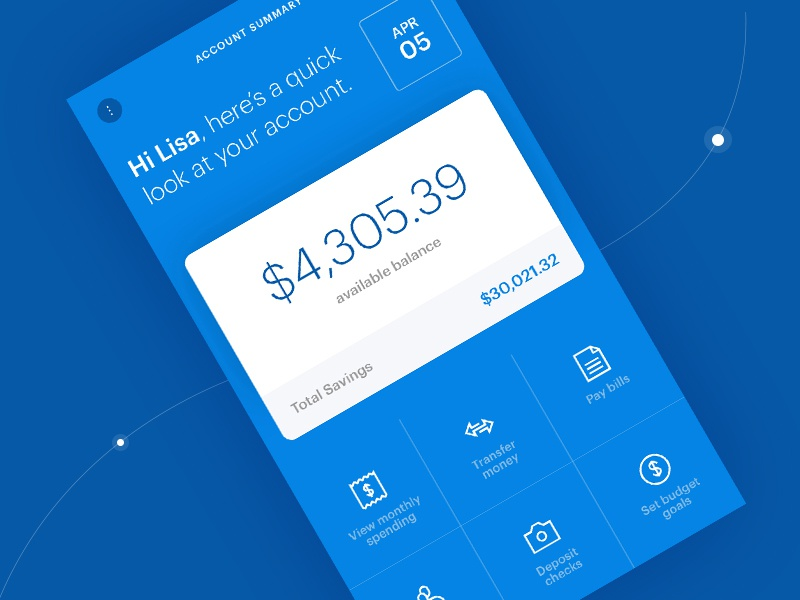 Mobile Account Summary ux ui digital digital product available balance bank mobile banking account summary mobile ui