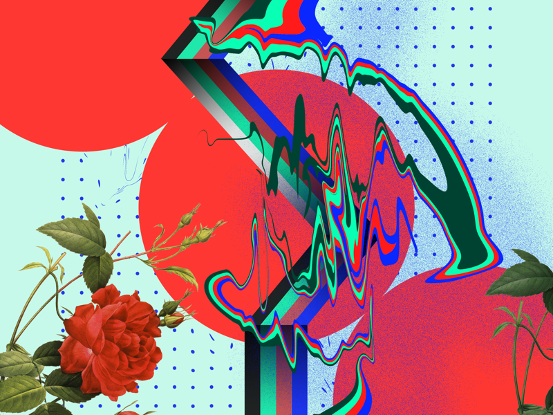 RGB geometric art shapes vector art flat graphics rgb botanicals flowers florals artwork abstract art digital art graphic design design