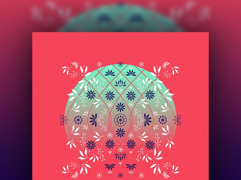 An Ornamental Ornament holiday ornamental botanicals greenery design illustration art illustrator vector art pattern flowers florals artwork graphic design
