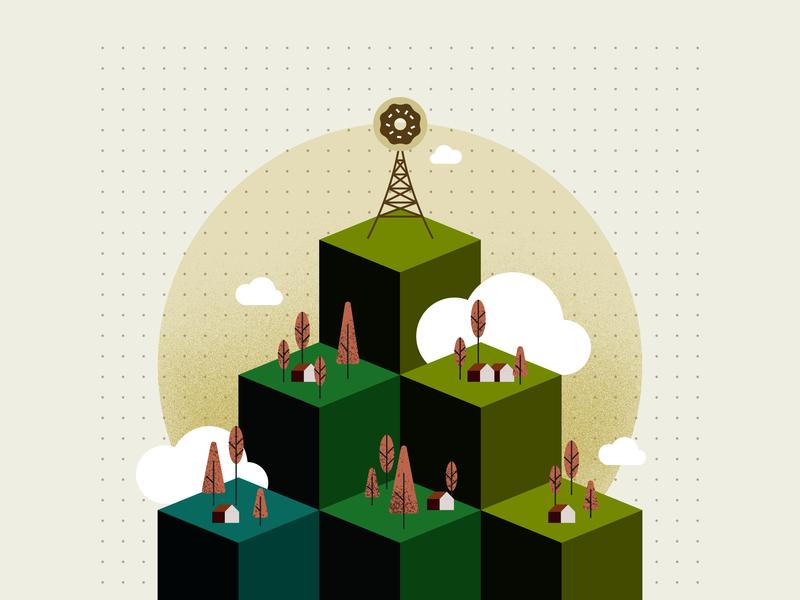 Maslow's Hierarchy of Needs vector art vector flat graphic design art artwork illustration graphic design pyramid doughnut