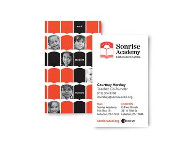 Business card for Sonrise Academy