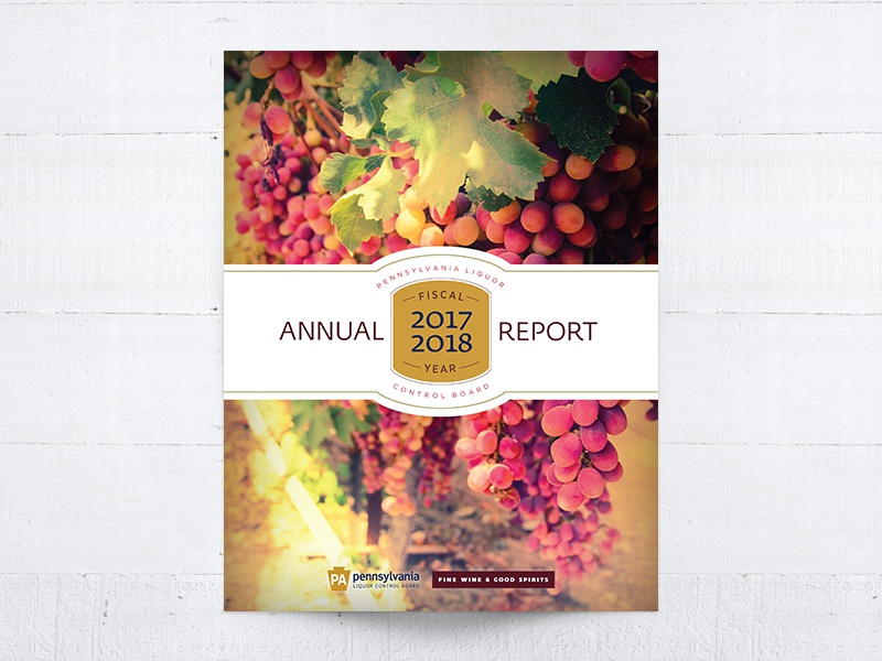 Annual Report - Final Cover Concept government pa alcohol cover design financial report print annual report