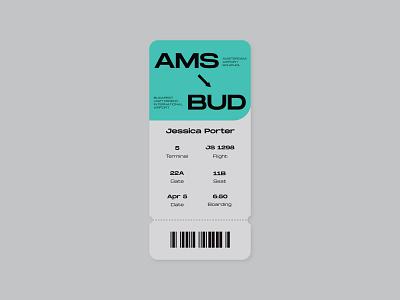 Daily UI - Boarding Pass budapest amsterdam 024 boardingpass pass airplane boarding pass design webdesign dailyuichallenge dailyui uidesign ui uiux