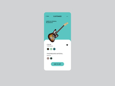 Daily UI - Customize Product 033 music guitar fender product customize product customize ui  ux design dailyuichallenge dailyui uidesign ui uiux