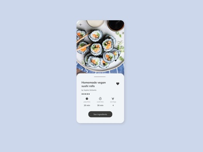 Daily UI - Recipe food sushi roll ui design ui  ux recipe app recipe dailyuichallenge dailyui uidesign ui uiux 040